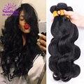 7А Малайзии Объемная Волна 4 Связки Малайзии Девы Волос Объемной Волны Волнистые Необработанные Человеческие Волосы Переплетения Sunlight Queen Hair Products
