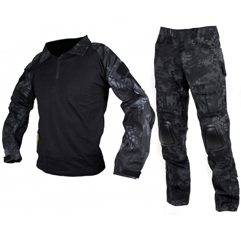 CQC Gen2 Tactical Army Combat BDU Uniform Set Military Airsoft Shirt & Pants Outdoor Paintball Hunting Clothes G2 Suit TYP