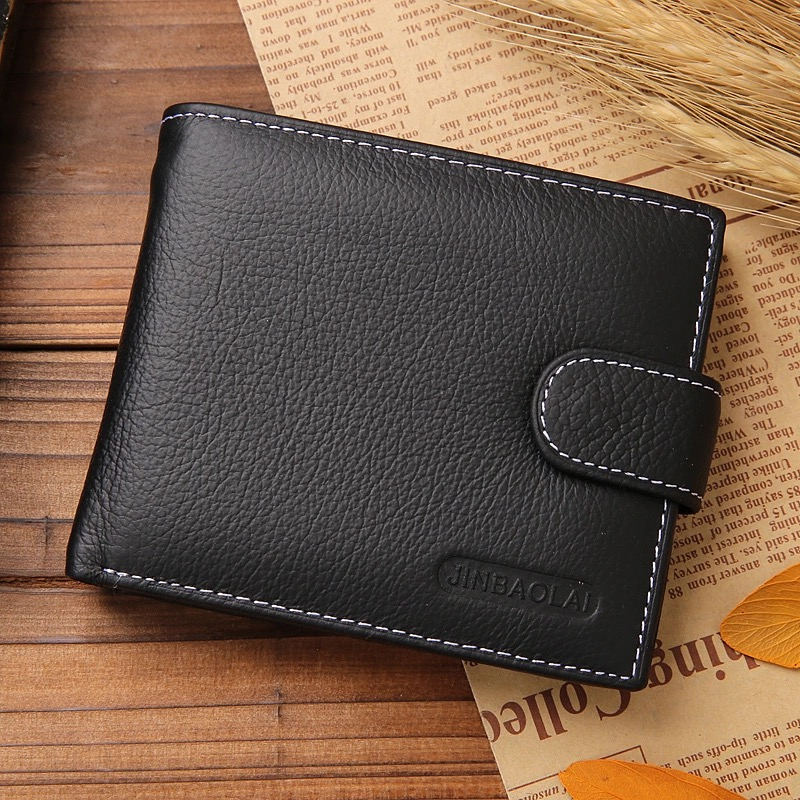 Brand Fashion wallet Men Wallets Leather Genuine Purse Card Holders Money bag male Solid men s