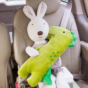 Baby Car Seat Belt Cover Cute Cartoon plush Kids Children Pillow Shoulder Pads Safety Positioner Padding Waist Cushion Styling image