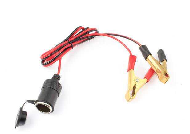 universal car styling car auto alligator clip 12v dc cigarette lighter  socket adapter with fuse box