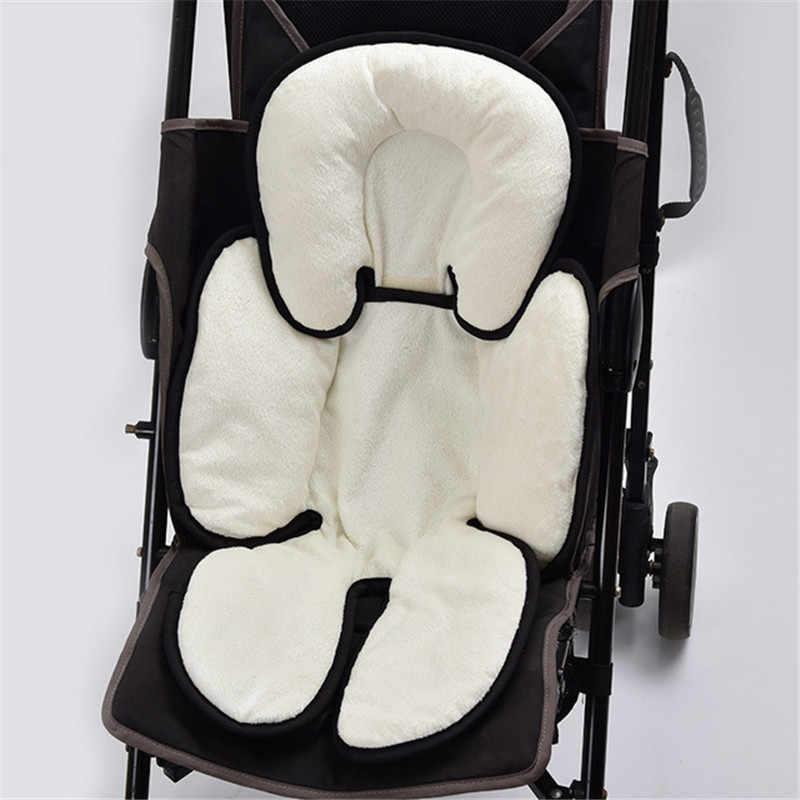 Accesorios para cochecito de bebé cabeza soporte para el cuerpo almohada suave pañal almohadilla de asiento de algodón