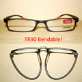 TWO Black TR90 Bendable Anti-slip fashion reading glasses +1.00 +.1.50 +2.00 +2.50 +3.00 +3.50 +4.00