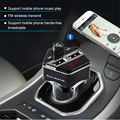 Bluetooth Car Kit MP3 Player Transmissor FM Sem Fio de Áudio USB LCD displaywith carregador 3.1a dual usb para iphone 5 5s 6 6 s