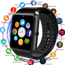 GT08 GSM GPRS Bluetooth Smart Watch Men Women Fashion Smartwatch Touch Screen Intelligent Watches Reloj Inteligente For Android(China)