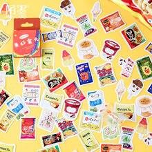 45 unidades/pacote bonito lanches papelaria adesivos de vedação etiqueta de viagem diy scrapbooking diário planejador álbuns decorações