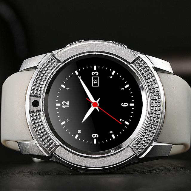 Bluetooth smart watch phone sim suporte cartão sd bluetooth devices wearable eletrônica pk gt08 wacht smartwatch android v8