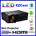 1600Lm HD Мультимедиа Поддержка DLNA miracast airplay EZCast HDMI Домашний Кинотеатр 3D мини wi-fi дисплей LED Проектор Proyector проектор