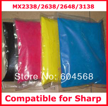 High quality color toner powder compatible for Sharp MX2338/2638/2648/3138 Free shipping