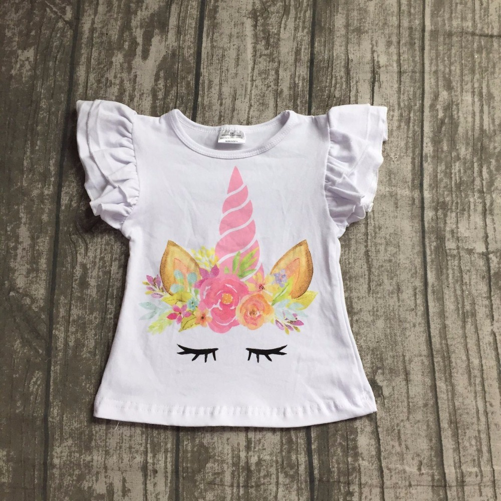 girls boutique summer clothing children kids unicorn raglans girls summer unicorn floral top raglans outfits clothing wear top baby girls fall boutique clothing girls time to be a unicorn raglans girl top t shirts children clothes hot pink sleeve raglans