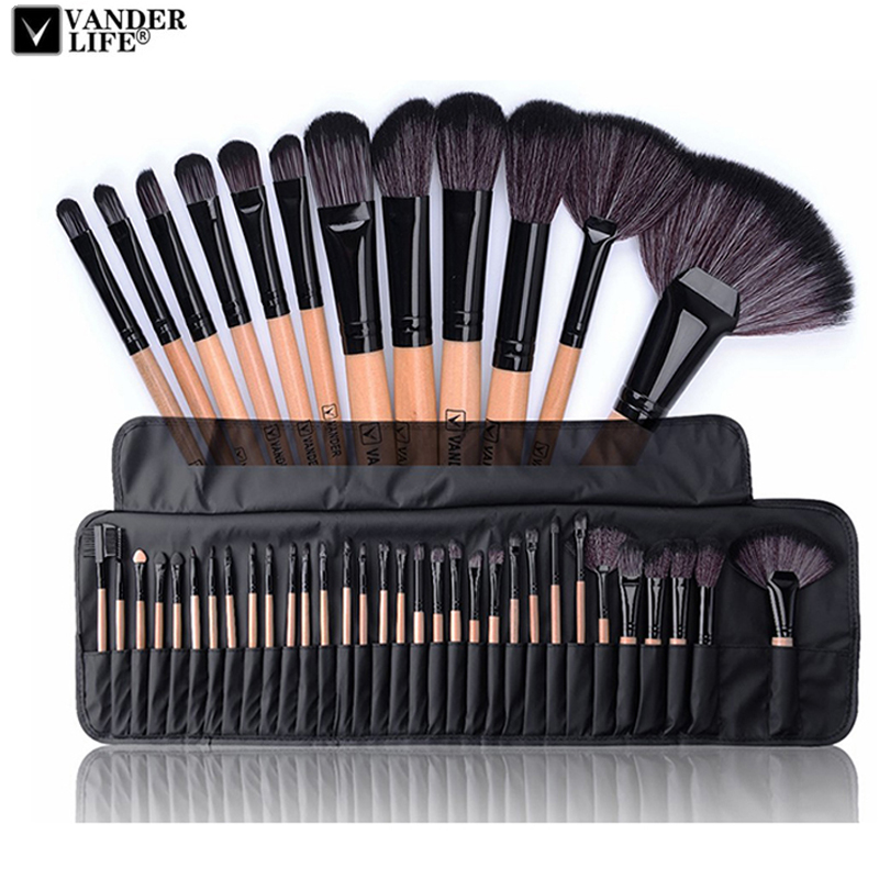 32 piezas maquillaje profesional de los cepillos conjunto hacer polvo cepillo Pinceaux maquillaje cosmético belleza Kit de herramientas de sombra de ojos cepillo bolsa