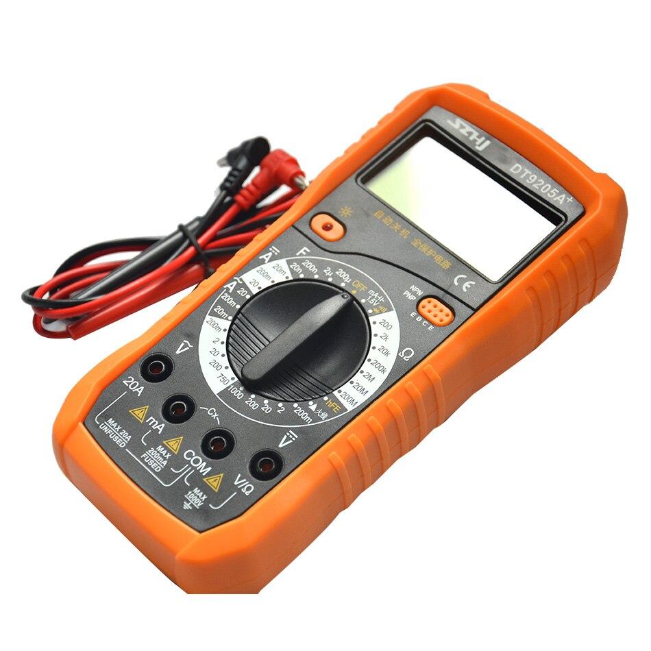 Digital Multimeter 9205 M Mobile Computer Repair Large Screen Anti-vibration Sleeve Metal Shield Anti-interference Ability
