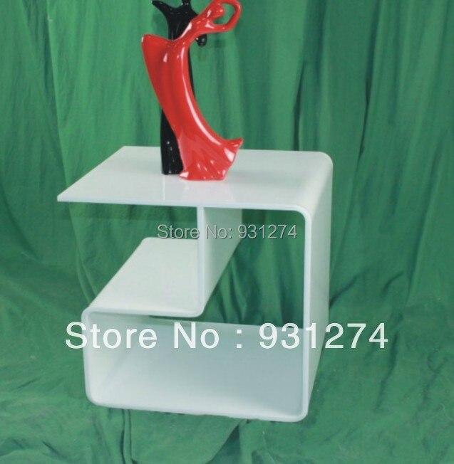 Élégant moderne acrylique Table basse Perspex meubles de maison en gros et au détail Table d'appoint livraison gratuite blanc canapé Table
