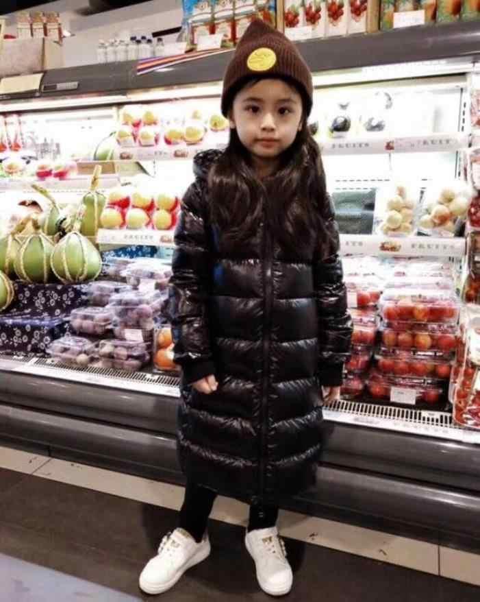 Европейский стиль, брендовые Длинные куртки на молнии хорошего качества для малышей пальто на утином пуху для мальчиков и девочек детская однотонная верхняя одежда ws13