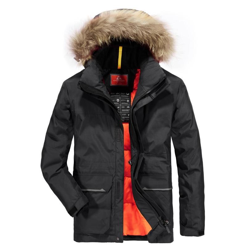Men Winter Padded Parka Men Warm Coat Detachable Raccoon Fur Men's Parkas Thick Alaska Jackets Plus Size