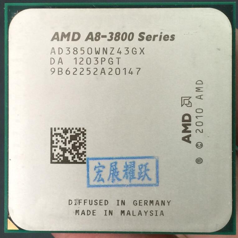 AMD A8-Series A8-3850-AD3850WNZ43GX A8 3850 Quad-Core CPU 100% fonctionne correctement De Bureau Processeur