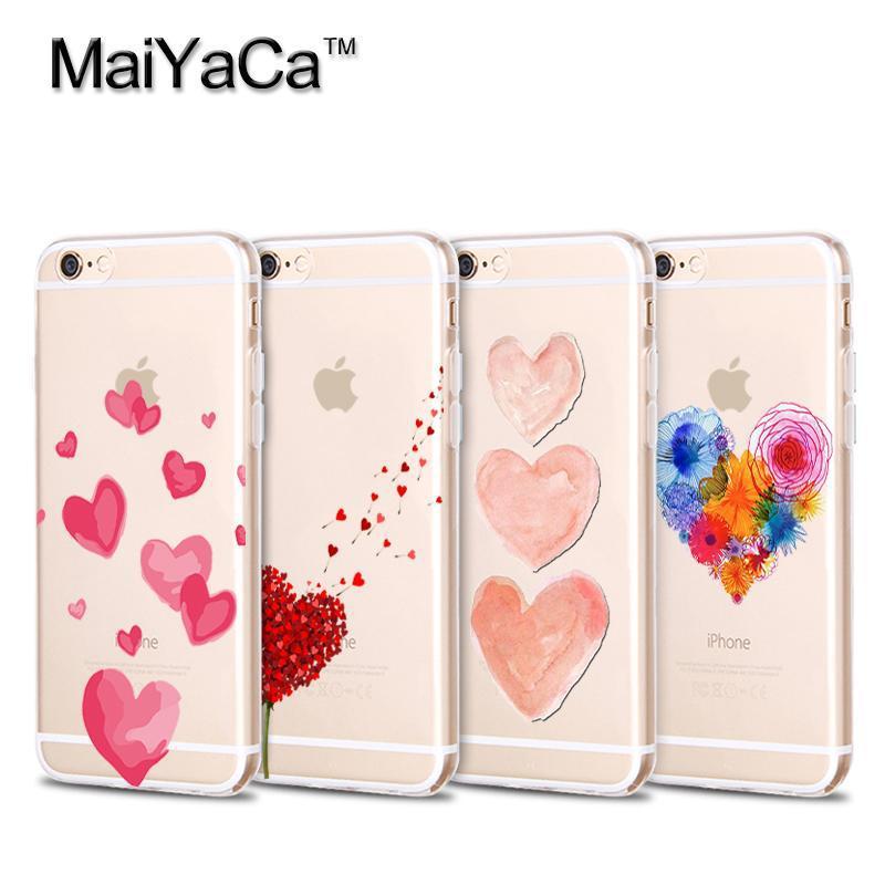 Carcasă MaiYaCa Moale pentru iPhone 4 4s 5 5s 6 6s 7 plus Acuarelă - Accesorii și piese pentru telefoane mobile