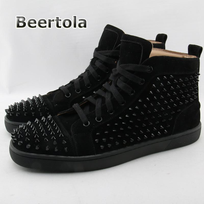 Altas Homens Sneakers Sapatos as As Borracha Men Beertola Dos Shown Partes Sapatilhas Camurça De Superiores Designer Das Rebite Sola Fasihon Casuais qE8SPw