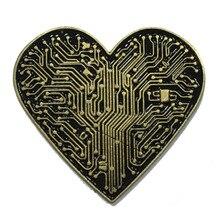 3D Antique Bronze Love Badge Personality Fashion Metal