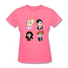 Woman T-Shirts cute riverdale team Tees Women Costume Camisetas Female Short Sleeve 100% Cotton kawaii cartoon Tshirts Lady(China)
