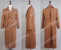 ¿ Quién es el doctor Dr. Who marrón lana larga Trencas chaqueta traje Cosplay traje para hombres