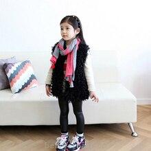 Корейский девочка искусственного шерсть жилет жилет верхняя одежда тёплый пальто / дети осень и зима жилет