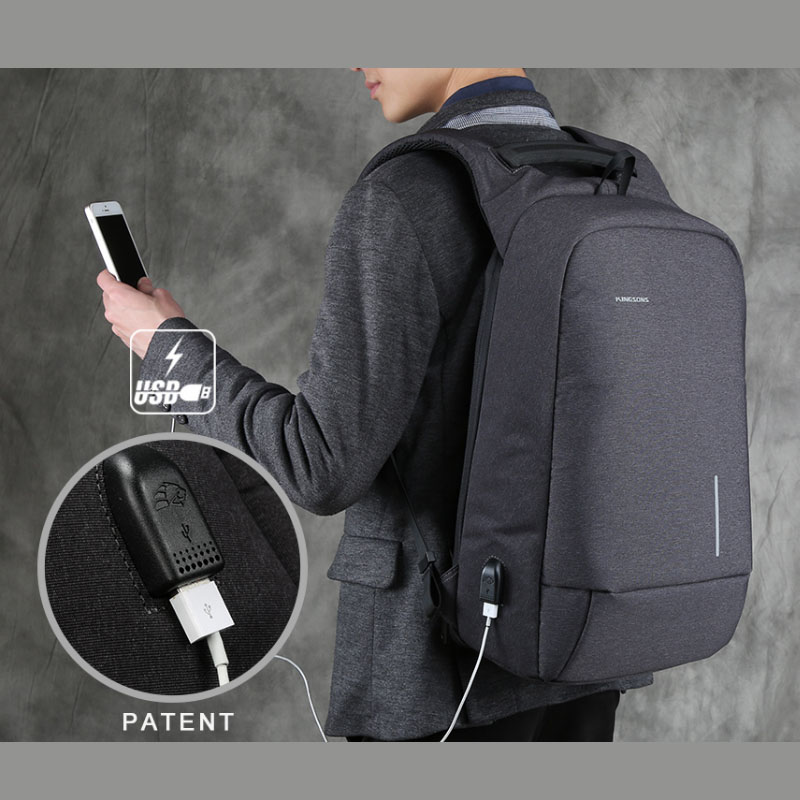 Kingsons Anti-Theft and USB Charging Port Backpack Anti-Slip Fashion Polyester Laptop / Tablet PC TrolleyKingsons Anti-Theft and USB Charging Port Backpack Anti-Slip Fashion Polyester Laptop / Tablet PC Trolley