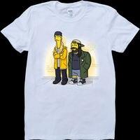 Jay And Silent Bob Mens White, Custom Made T Shirt
