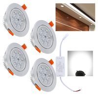 Dimmable 7W Cold White Led Ceiling Spot Recessed Light LED Downlight Round Spot Lamp Indoor Lighting Living Room Kitchen Hallway