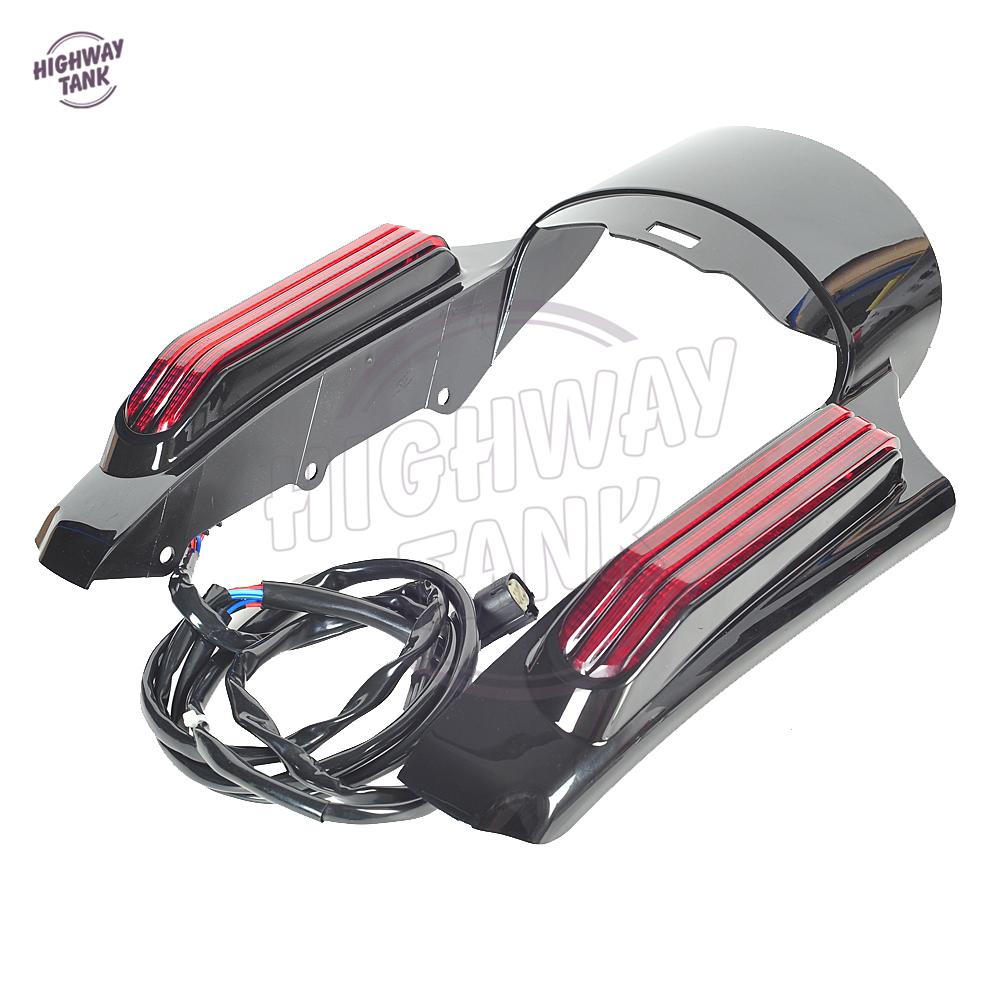 Motorcycle Accessories LED Light Rear Fender Fascia Set Case for Harley Touring Road King FLHR FLHX 2014 2015 2016 2017 2018 led light rear fender fascia set for harley touring road king electra street glide flhr flht flhx flhtcu 2014 2018