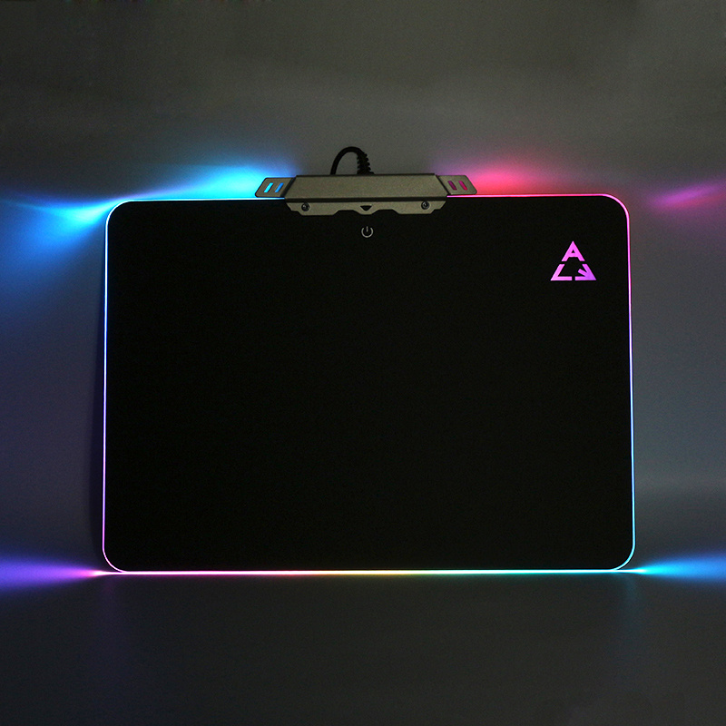 PRO Gaming Hard Mouse Pad RGB Lighting PVC Non-Slip Mice Mat Silicone Bottom USB Lighting Mousepads For PC Laptop LOL CS ...