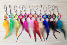 NEW ARRIVAL free shipping hot sale dream catcher high quality keychain mixed colors