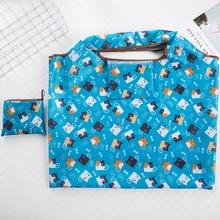 Foldable Handy Shopping Bags Reusable Tote Pouch Recycle Storage Handbags Handbag ECO fashion foldable handy shopping bag reusable tote pouch recycle storage handbags randomly sent 38 60cm