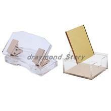 Акриловая Золотая изогнутая Дырокол и Золотая зеркальная коробка Канцтовары от Draymond Story