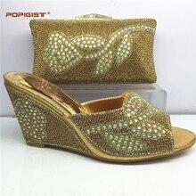 43d7833b6fbe4 أحدث الخوخ الأحذية الأفريقية و مجموعة الحقائب ل حزب عالية الجودة الأحذية  الايطالية و الحقائب لمطابقة للأزياء النساء