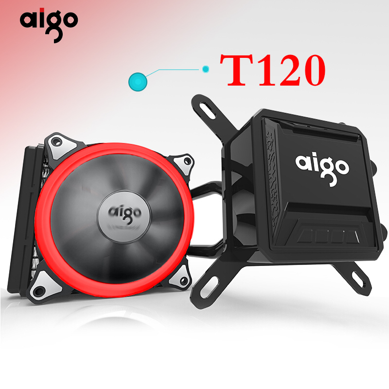 Aigo Aurora rainbow pc case water cooling computer fan CPU integrated water cooling Cooler For LGA