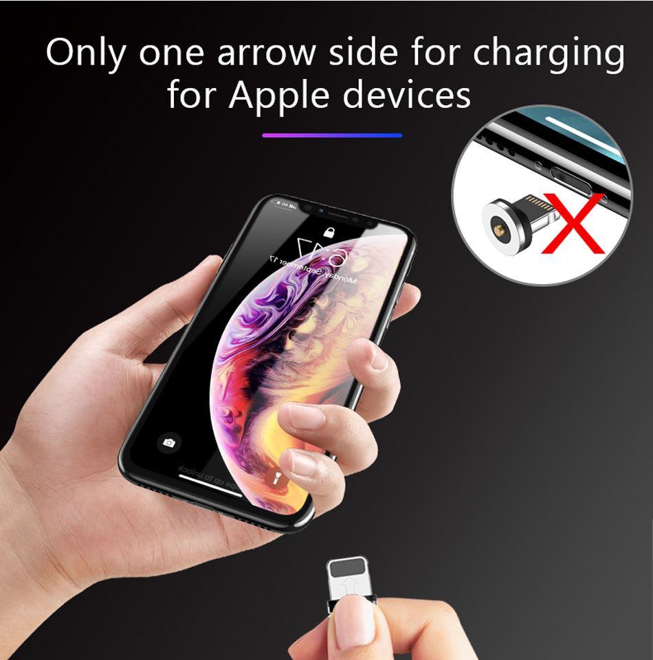 !ACCEZZ 2 in 1 Phone Stand Holder Magnetic Charger For iphone 8 X Plus Universal Type-C Micro USB 8 Pin Desktop Charge For Xiaomi (8)