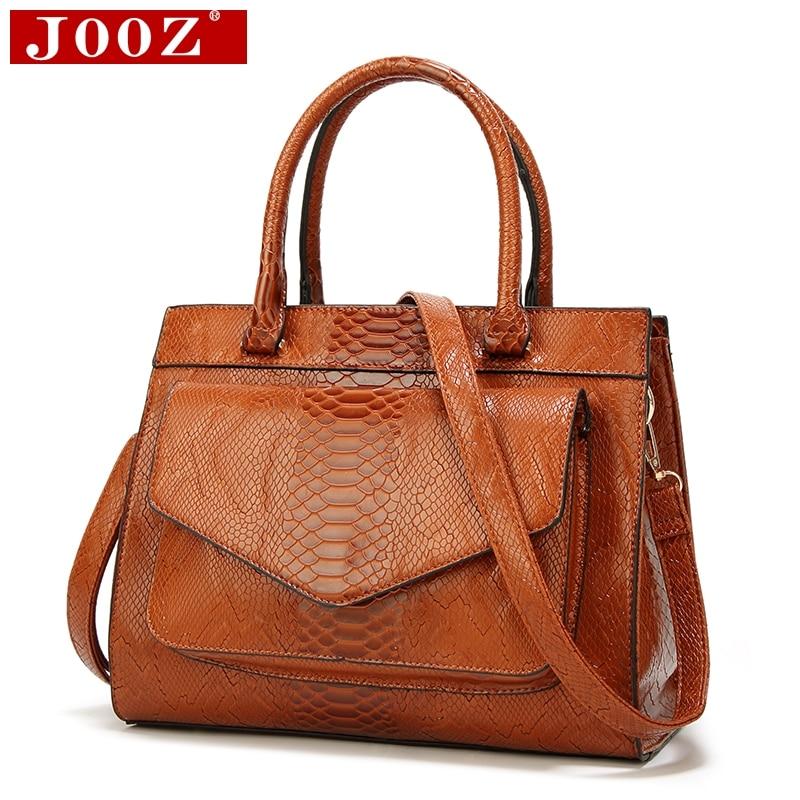 JOOZ Nuovo Sacchetto di Modo della Donna Luxe cuir Serpentina Borse in pelle Con del sacchetto Delle Signore delle Donne Tronco Tote borse del messaggero Delle Donne borsa