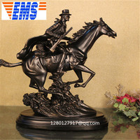 Statue Retro Creative Artware Bust Horse Full Length Portrait Resin Action Figure Collectible Model Toy 50 CM BOX P485