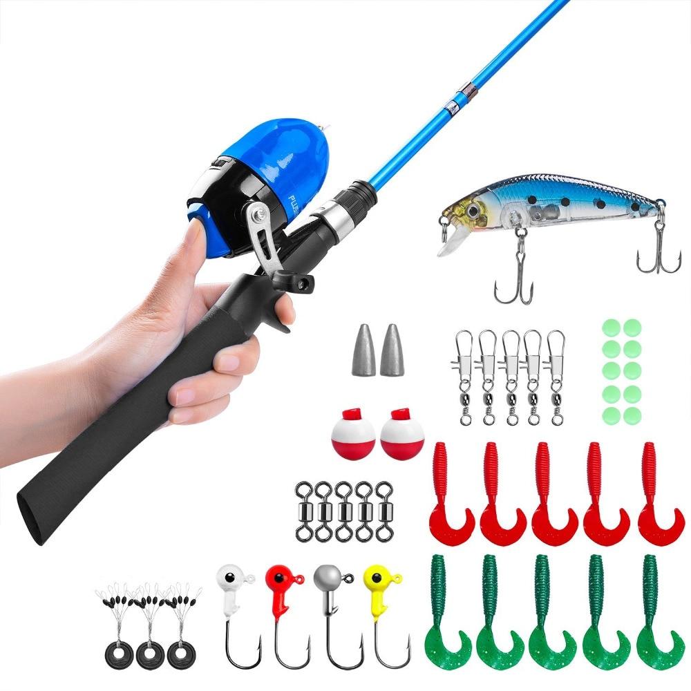 купить PLUSINNO Kids Fishing Pole,Telescopic Fishing Rod and Reel Combos with Spincast Fishing Reel and String with Fishing Line по цене 1682.94 рублей