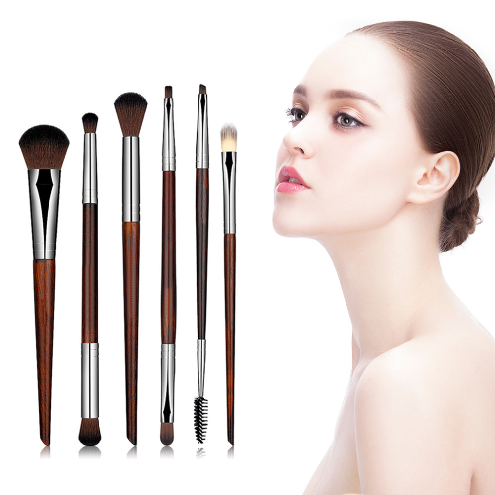 6 Pcs Cosmetic Makeup Brushes Set Face Powder Blusher Foundation Brush Eyeshadow Makeup Cosmetic Brush Tool Drop Shipping new design stamp seal shape face makeup brush foundation powder blush contour brush cosmetic facial brush cosmetic makeup tool