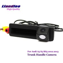 Liandlee For Audi A5 S5 RS5 2012 2013 Car Rearview Reverse Camera Rear View Backup Parking / Integrated Trunk Handle CAM