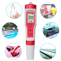 Pool Home Portable Water Quality Meter Aquariums Large Screen Digital Tester PH TDS EC TEMP Monitor Accurate 4 In 1 Hydroponics