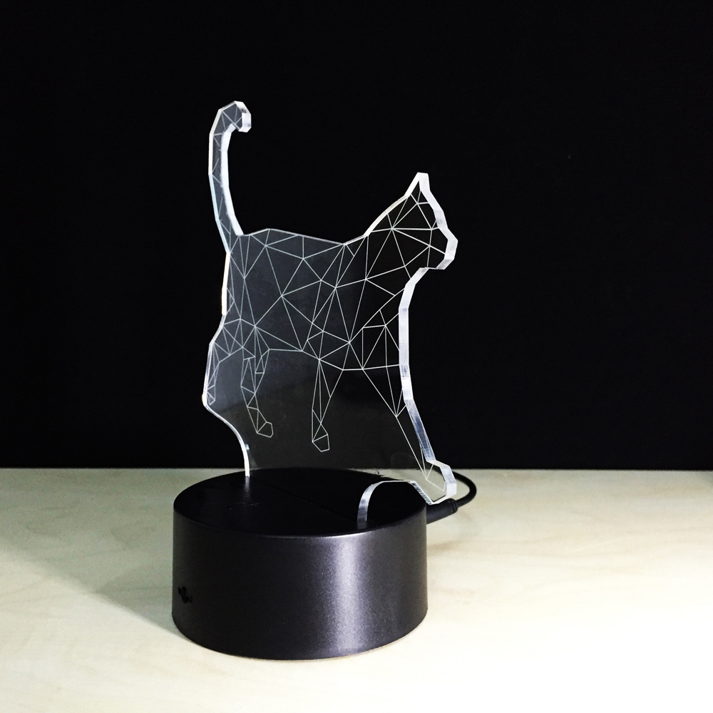 Luzes da Noite o novo curta gato 3d Outline Dimension : 220*130*90 (mm)