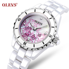 Ladies Watches Top Brand Luxury Fashion Quartz Ceramic Strap Women Watch Waterproof Japan Quartz Movement High