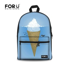 FORUDESIGNS Tumblr Ice Cream Printing Backpack for Teen Girls Children School Backpacks Bags Women Bagpack Students