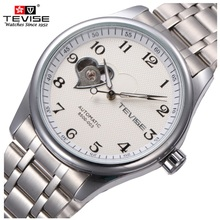 Original A Estrenar TEVISE Hombres Reloj Mecánico Automático Impermeable Moda Hombres Relojes Reloj Masculino Del Relogio masculino