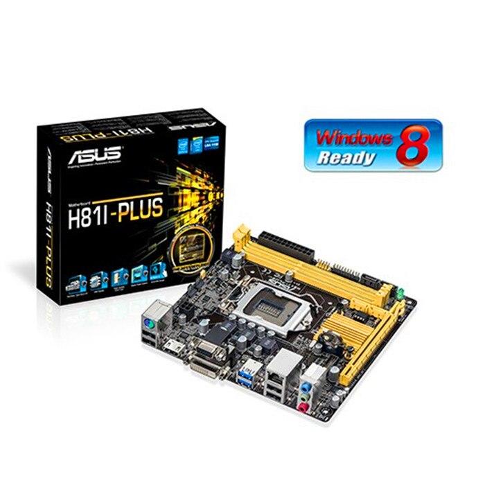 New original motherboard ASUS H81I-PLUS LGA 1150 Mini ITX HTPC Computer Motherboard Desktop motherboard Free shipping