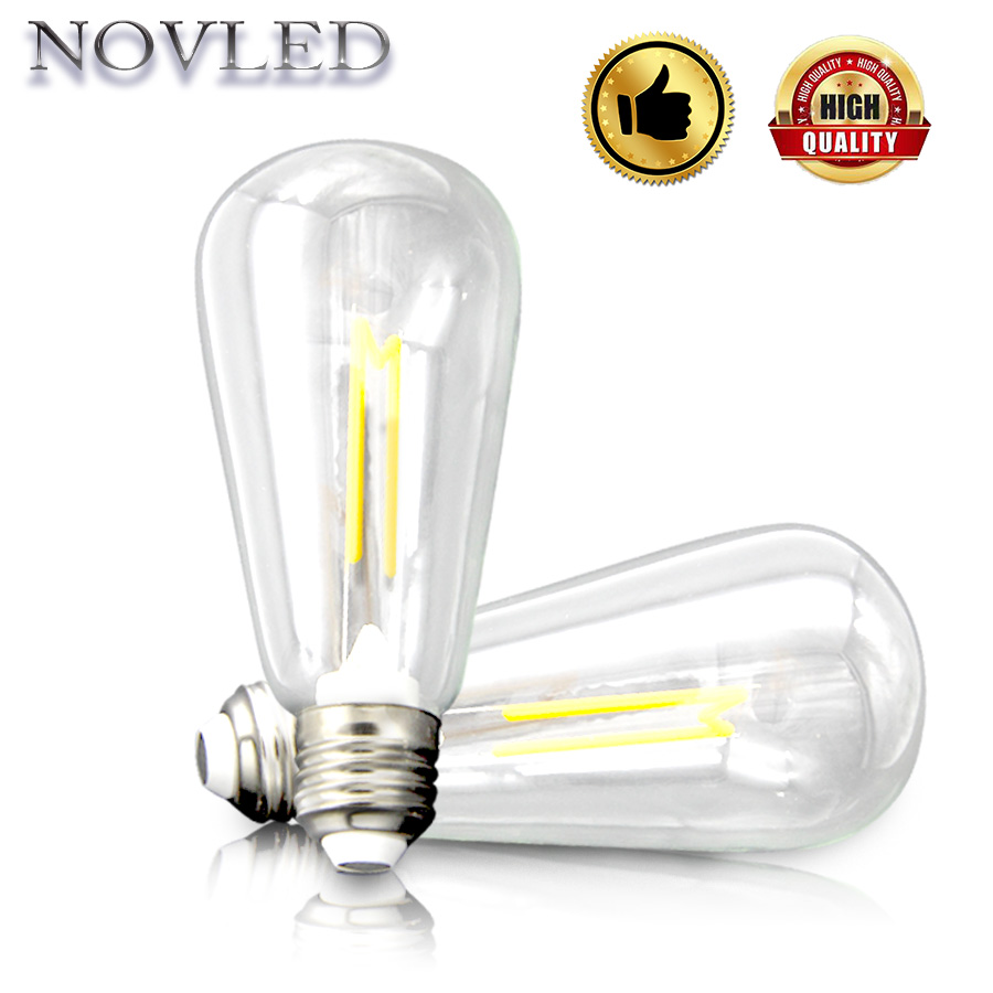 E27 Novelty Light M Shape ST64 4W Warm White Nature White Home Lighting Festival Holiday Lights LED Bulb M Industrial Style Lamp