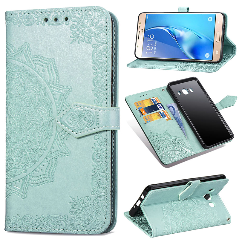 PU Leather Case For Samsung Galaxy J5 2016 Wallet Card Flip Magnet Soft Silicone Stand Case for Samsung J510FN J510F Phone Cover